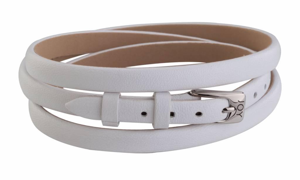 Joy de la Luz Joy de la Luz JB208 Buckle bracelet white