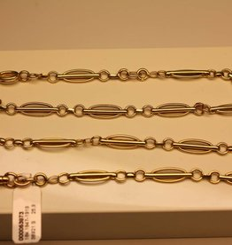 18 carat gold antique French pocket watch chain 1847-1919
