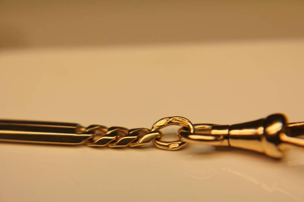 14 carat gold antique Dutch pocketwatch chain 1906-1953