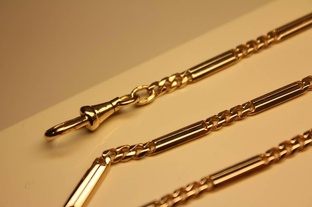 14k gouden antieke Nederlandse horlogeketting 1906-1953