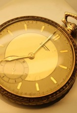 Art Deco 14 carat gold antique Tissot pocketwatch