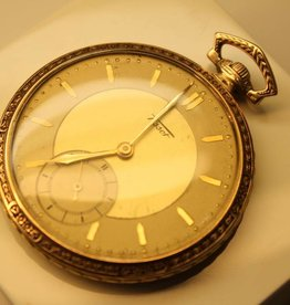 Art Deco 14 carat gold antique Tissot pocketwatch