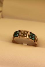 9 carat antique ring England Birmingham 1878
