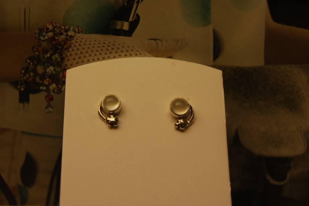 Rabinovich Silver Earrings Chalcedony