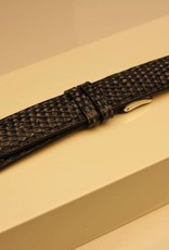 Handgemaakte horlogeband hagedis grijsblauw 18/16mm