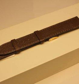 Handgemaakte horlogeband madrasleder donker khaki 18/16mm