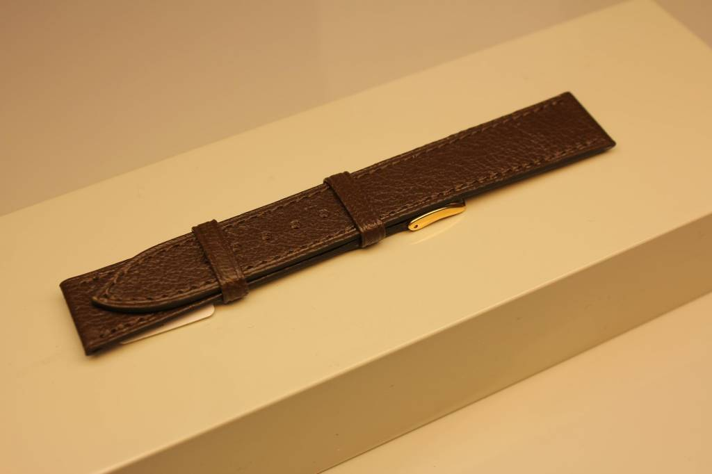 Handmade watch band madras leather dark khaki 18/16mm