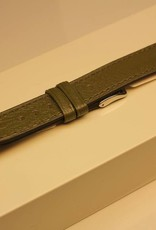 Handmade watch band madras leather olive 18/16mm