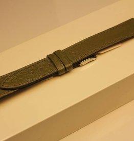 Handgemaakte horlogeband madrasleder olive 18/16mm