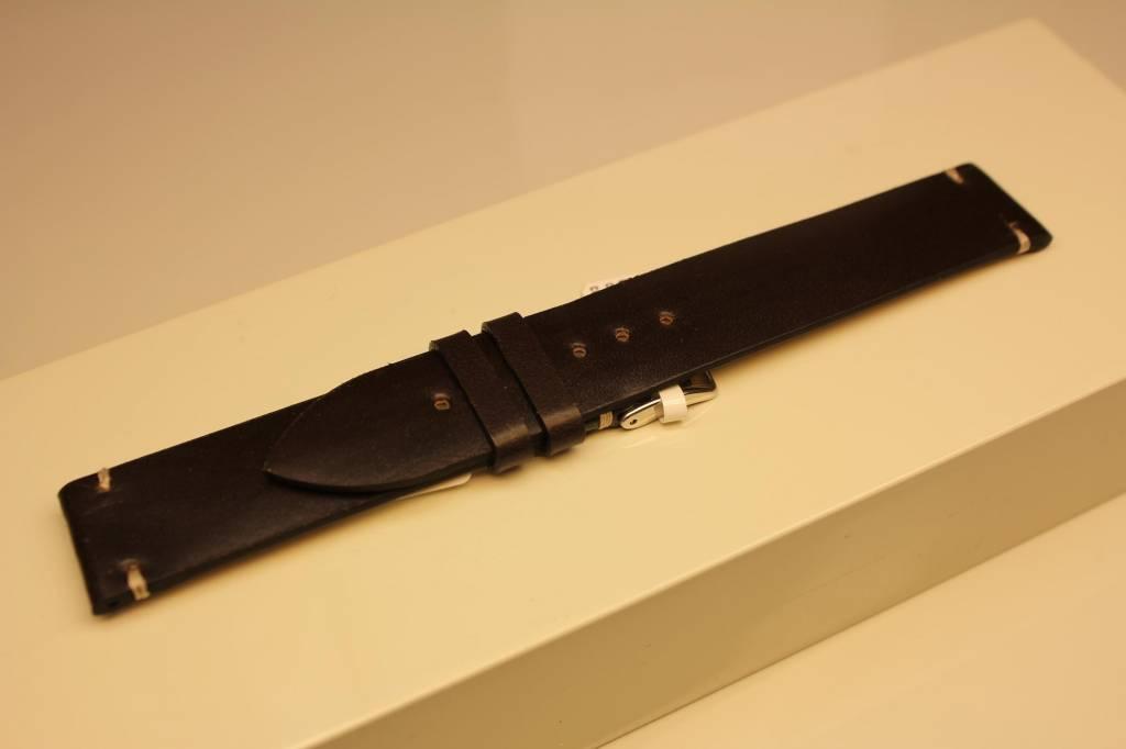 Handmade watch band cordovan leather dark brown 18/18mm