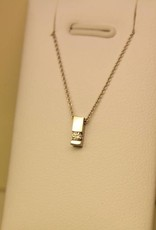 Various 14 carat WHITE gold handmade pendants with necklace included