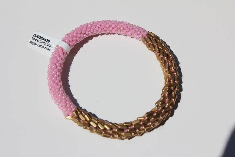 Loffs Loffs Nepal Bracelet pink & gold scales