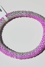 Loffs Loffs Nepal Bracelet Pink & Silver White