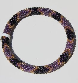 Loffs Loffs Nepal Bracelet black, purple & gold