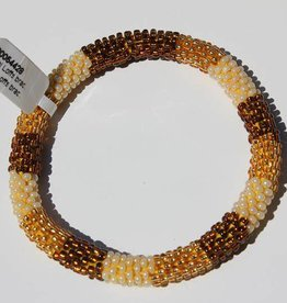 Loffs Loffs Nepal Bracelet gold, brown & white