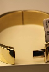 14 carat gold flat bangle 17mm