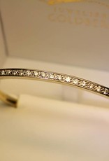 18k gouden slavenband bicolor 1.25ct briljant