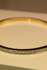 18 carat gold bangle bicolor with 1.25ct diamond