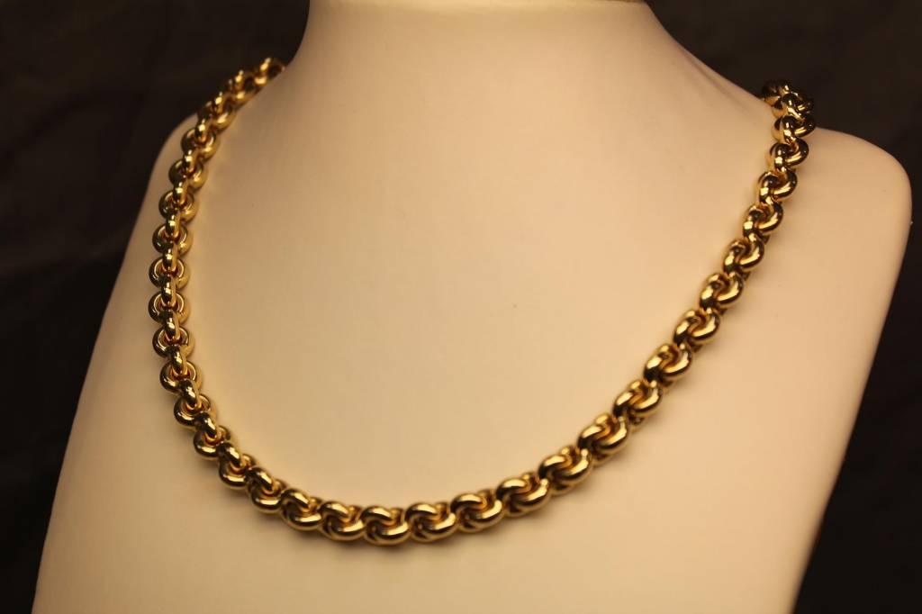 14 carat gold chain link necklace 7 5mm goldberg