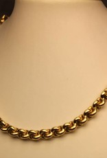 14 carat gold fantasy chain link necklace 7,5mm
