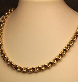 14k gouden fantasie/anker collier 7,5mm