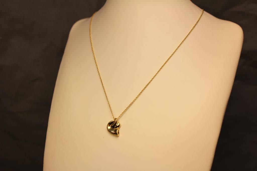 Vintage 18k gouden Tiffany&Co Elsa Peretti collier