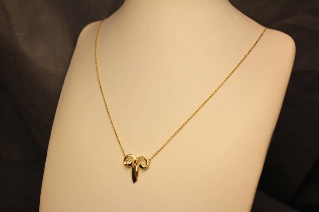 Vintage 18 carat gold Tiffany&Co Paloma Picasso necklace