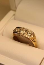 18 carat gold ring art deco 0.80ct diamond pique