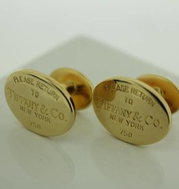 18 carat gold cufflinks Tiffany & Co New York