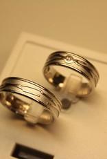 Desiree wedding band set 1061-6w 0.015ct diamond