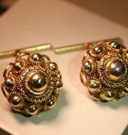 """Gold plated silver cufflinks """"Zeeland Button"""" (filigrain)"""
