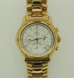 Ebel 1911 chronograph 18 carat yellow gold