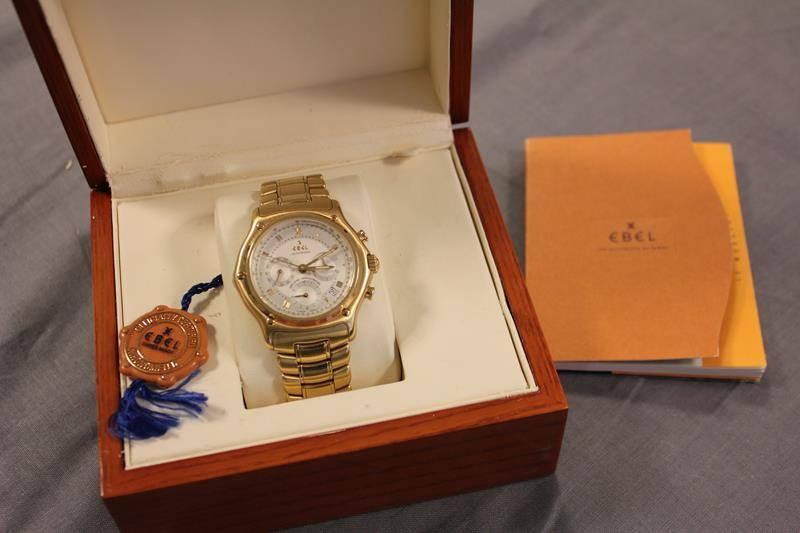 Ebel 1911 chronograph automatic 18K geelgoud
