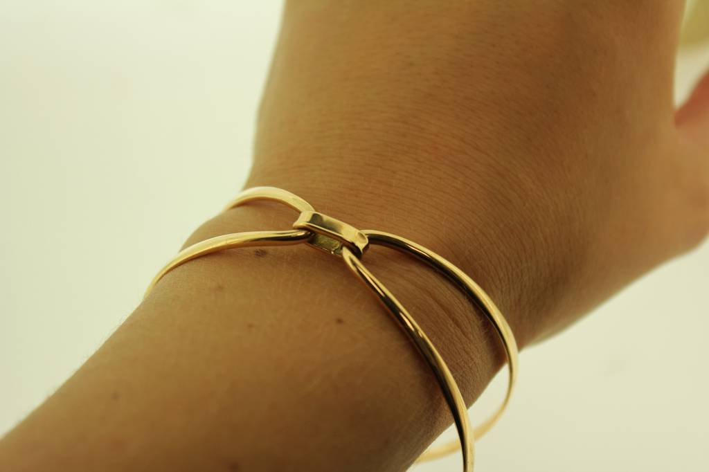 full carat bangle beautifully s gold f item bangles hob etched bracelet marked collette