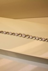 Silver bracelet set with zirconia's