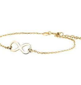 Silver infinity bracelet gold plated