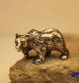 Zilveren miniatuur beer
