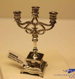 Zilveren kandelaar miniatuur