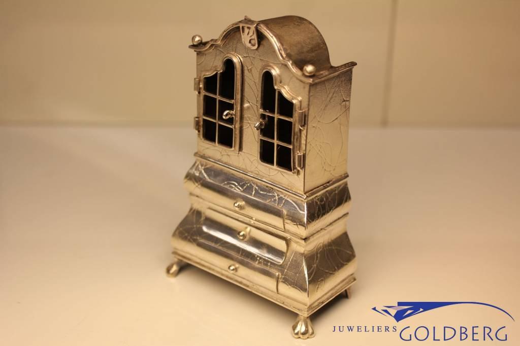 Silver cupboard miniature