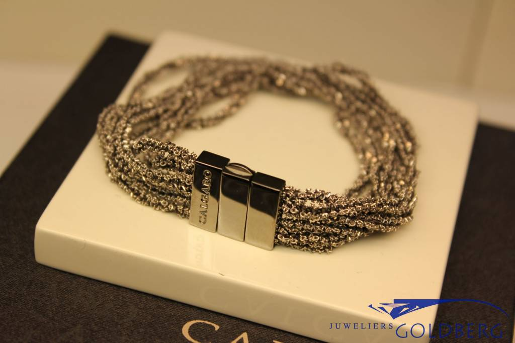 Calgaro Calgaro Bracelet woven silver black