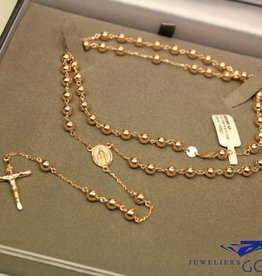 14 carat rose gold rosary