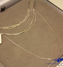 Zilveren anker collier geslepen 1,6mm