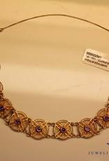 14k antieke armband met amethyst Eduard Goudsmit Rotterdam 1880-1924
