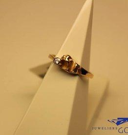 14 carat gold design ring with 0.04ct diamond