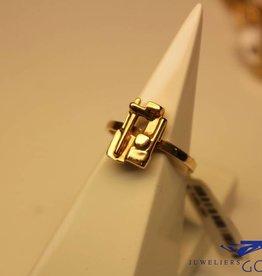 14 carat gold design ring by goldsmith/designer Paul v/d Hout