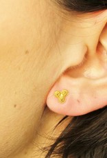 18 carat gold filigrain earrings