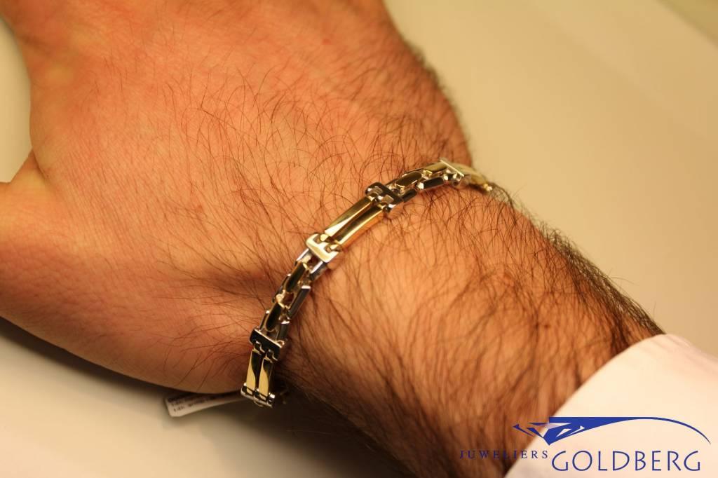 14 carat gold men's bracelet (bicolor)