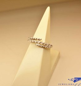 Zilveren fantasie alliance ring met zirconia's