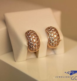 14 carat rose gold earrings with zirconia's