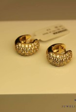 14 carat yellow gold earrings with zirconia's